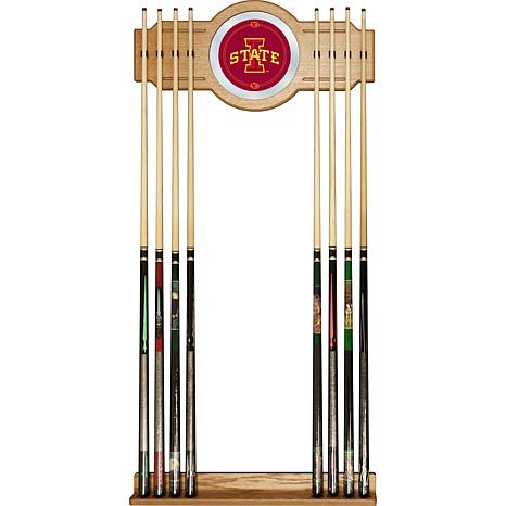 Iowa State University Wood and Mirror Wall Cue Rack