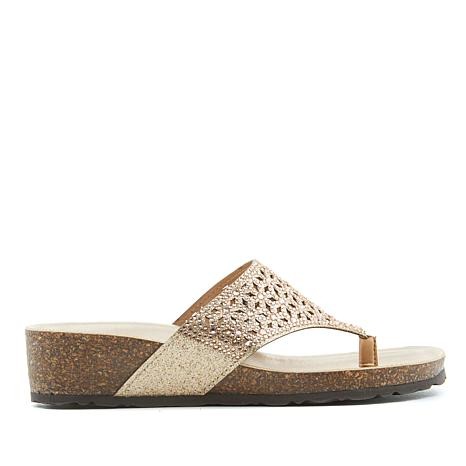 Italian Shoemakers Eloise Footbed Thong Sandal