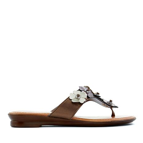 Italian Shoemakers Giggie Floral Thong Sandal
