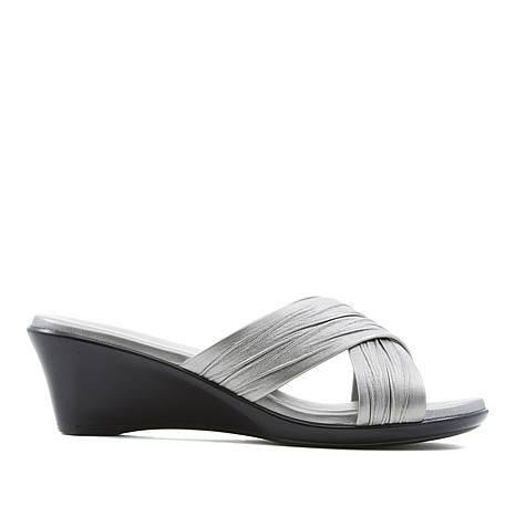 Italian Shoemakers Softy Cross-Band Slide Sandal