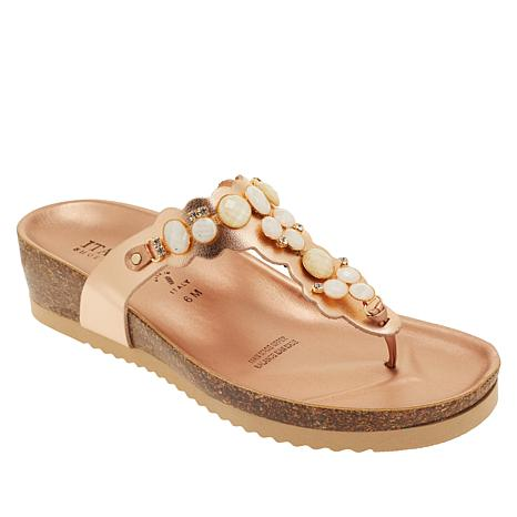 Italian Shoemakers Vixi Embellished Thong Sandal