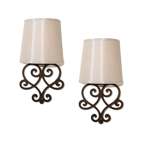 It S Exciting Lighting 2 Pack Battery Ed Wall Sconce Set
