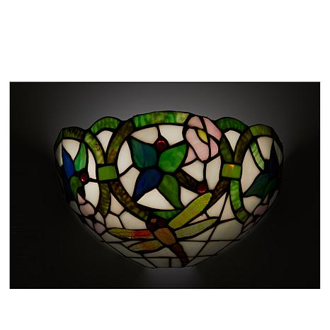 Hsn Battery Operated Wall Sconces : It s Exciting Lighting Battery Powered Wall Sconce - Stained Glass Dragonfly - 8423325 HSN