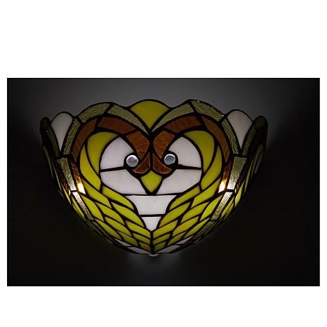 Hsn Battery Operated Wall Sconces : It s Exciting Lighting Battery Powered Wall Sconce - Stained Glass Swan - 8423328 HSN