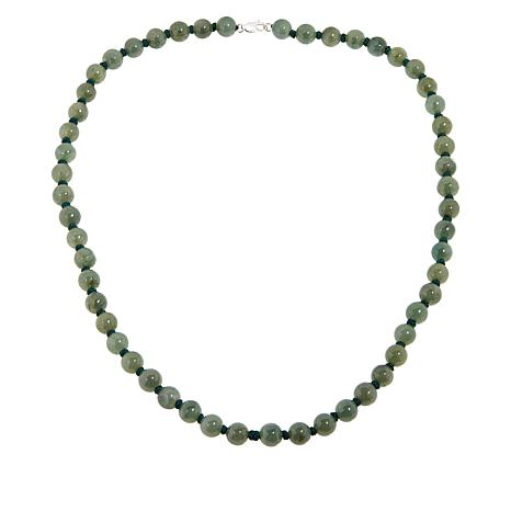 Jade of Yesteryear 8mm Jade Bead Necklace