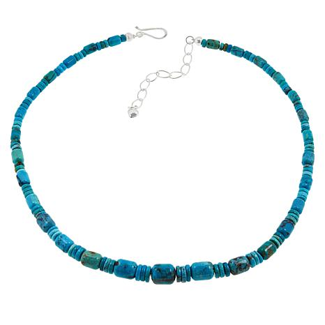 """Jay King 18"""" Cloudy Mountain Turquoise Beaded Necklace"""