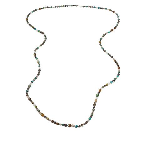 """Jay King 60"""" Multi-Color Turquoise and Tourmalinated Quartz Necklace"""