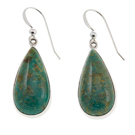 Jay King Alicia Turquoise Pear-Shaped Drop Sterling Silver Earrings