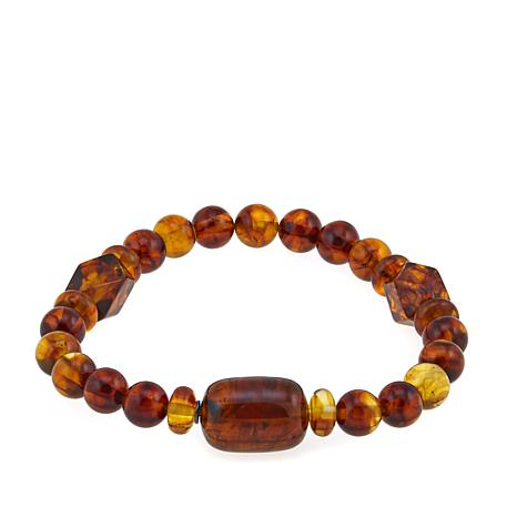 Jay King Amber Bead Stretch Bracelet