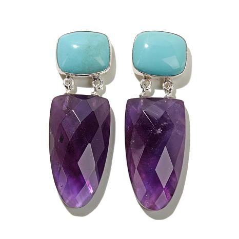 Https i01 hsncdn com is image homeshoppingnetwork prodfull jay king - Jay King Amethyst And Turquoise Drop Sterling Silver