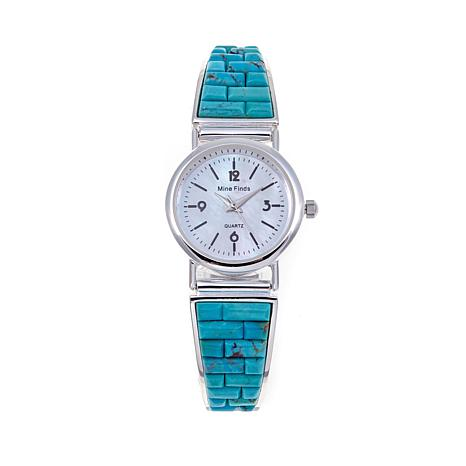 Jay King Andean Blue Turquoise Inlay Watch - Medium