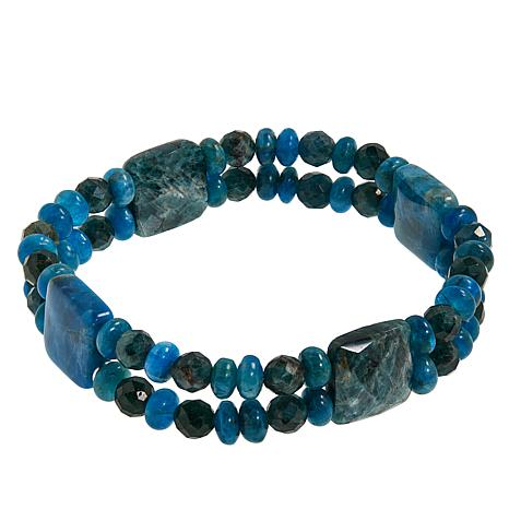 Jay King Apatite Multi-Bead Stretch Bracelet