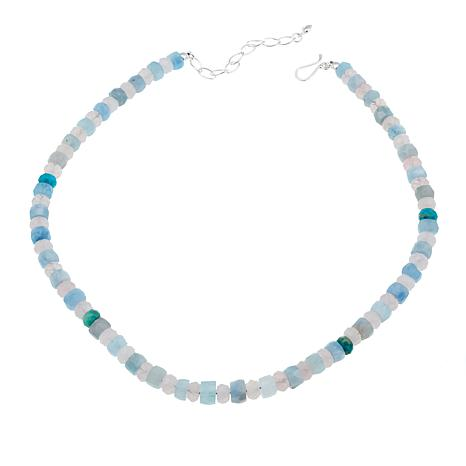 "Jay King Aquamarine, Rose Quartz and Turquoise Bead 18"" Necklace"