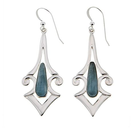 Jay King Aquamarine Sterling Silver Drop Earrings