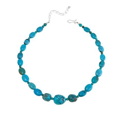 "Jay King Azure Peaks Turquoise 18"" Sterling Silver Necklace"