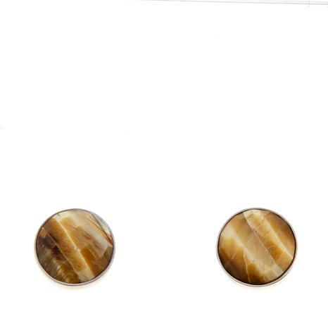 Jay King Blonde Tiger's Eye Stud Earrings