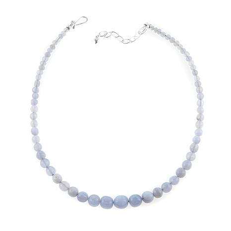 "Jay King Blue Agate Bead Graduated 18"" Necklace"
