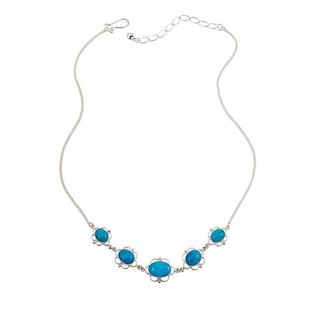 "Jay King Blue Basin Kingman Turquoise Sterling Silver 18"" Necklace"