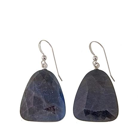 Jay King Blue-Gray Corundum Drop Earrings