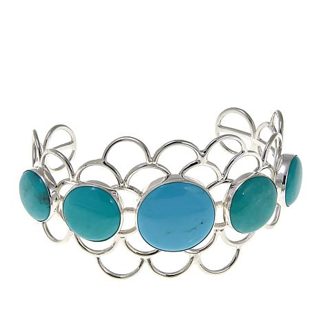 Jay King Campitos Turquoise Sterling Silver Cuff Bracelet