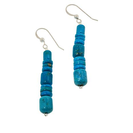 Jay King Cloudy Mountain Turquoise Beaded Drop Earrings