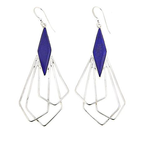 Jay King Contemporary Lapis Sterling Silver Earrings