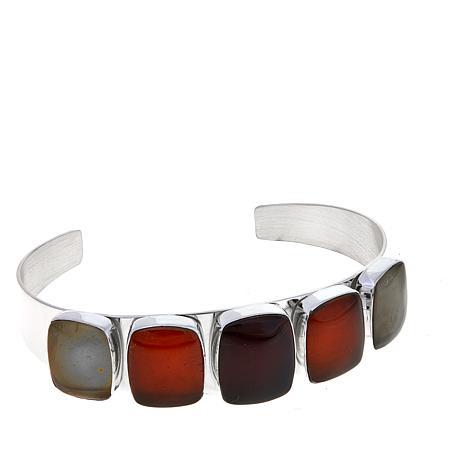 Jay King Cushion-Cut Multicolor Amber Cuff Bracelet