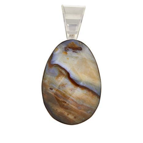 Jay King Ethiopian Autumn Opal in Chalcedony Pendant