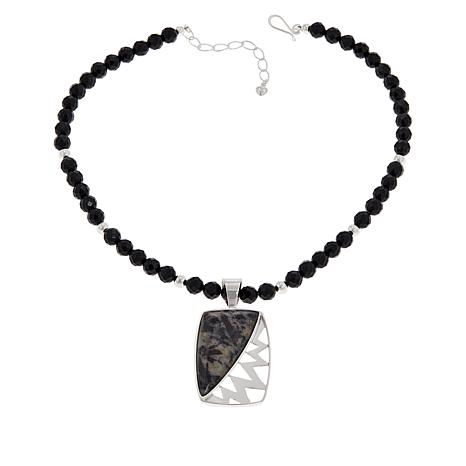 Jay King Gallery Collection Astrophyllite Pendant with Necklace