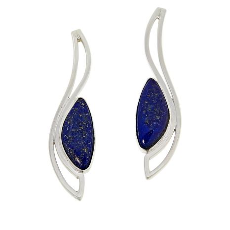 Jay King Gallery Collection Sterling Silver Lapis Earrings