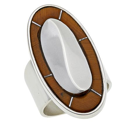 Jay King Gallery Collection Sterling Silver Tiger's Eye Ring
