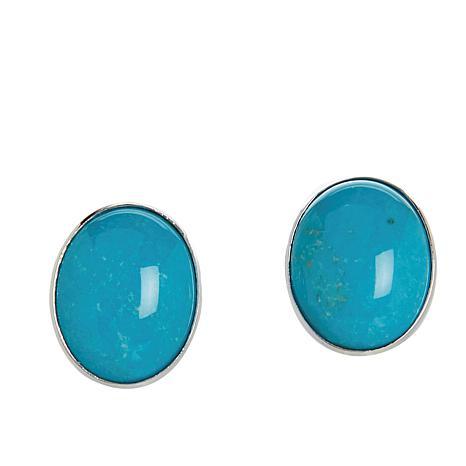 Jay King Golden Dragon Mountain Turquoise Oval Earrings
