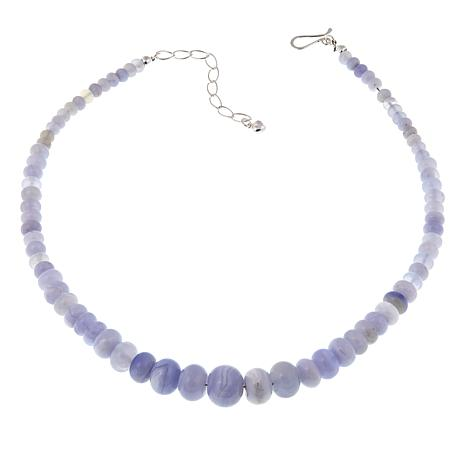 "Jay King Graduated Blue Chalcedony 18"" Necklace"