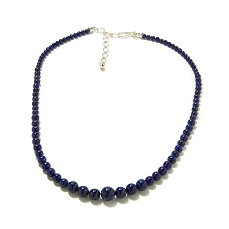 "Jay King Graduated Lapis Bead 19-3/4"" Necklace"