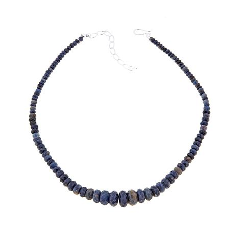 "Jay King Graduated Malawi Sapphire Bead 18"" Necklace"