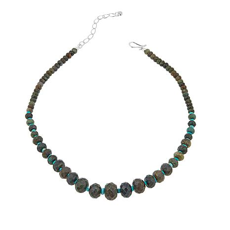 "Jay King Green Diopside and Turquoise Bead 18-1/4"" Necklace"