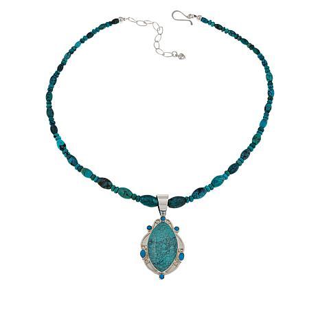 Jay King Hubei and Sleeping Beauty Turquoise Pendant-Necklace