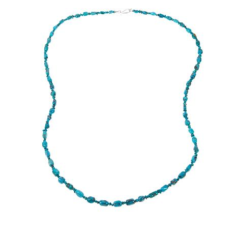 "Jay King Iron Mountain Turquoise 36-1/4"" Necklace"