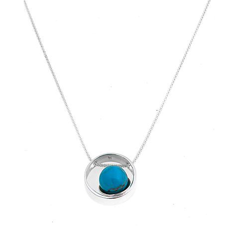 Jay King Iron Mountain Turquoise Circle Pendant