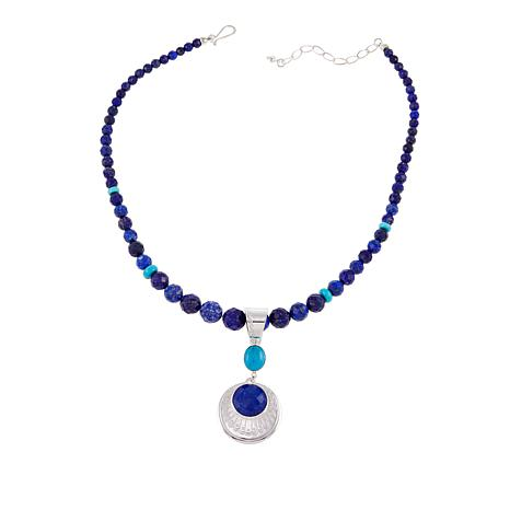 """Jay King Lapis and Turquoise Pendant with 18"""" Necklace"""