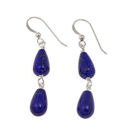 Jay King Lapis Drop Sterling Silver Earrings