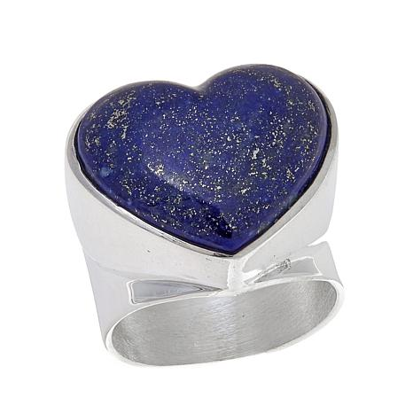Jay King Lapis Heart Sterling Silver Ring