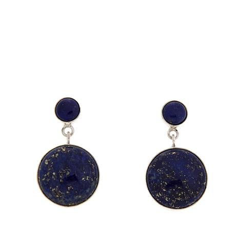 Jay King Lapis Sterling Silver Circle Drop Earrings