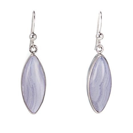Jay King Marquise-Cut Blue Lace Agate Drop Sterling Silver Earrings