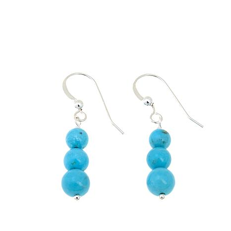 Jay King Mongolian Mist Turquoise Bead Drop Earrings