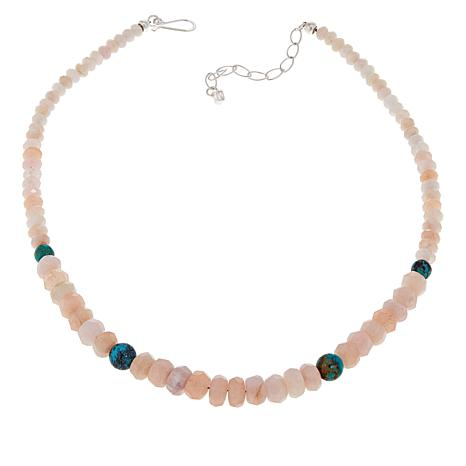Jay King Morganite and Turquoise Beaded Necklace