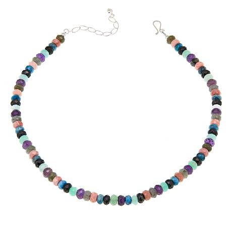 "Jay King Multicolor Multigemstone 18"" Necklace"