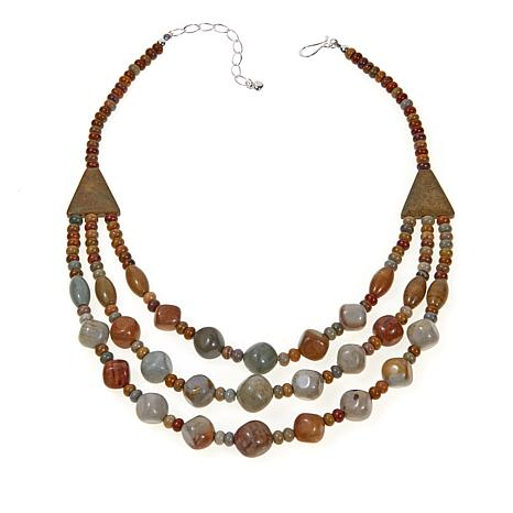 "Jay King Multicolor Springtime Jasper 18-1/4"" Necklace"