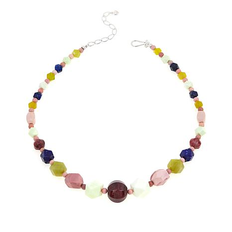 "Jay King Multicolored Multigemstone 18"" Sterling Silver Necklace"
