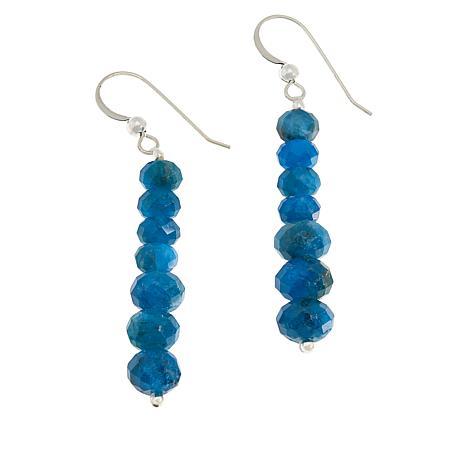 Jay King Neon Blue Apatite Bead Drop Earrings